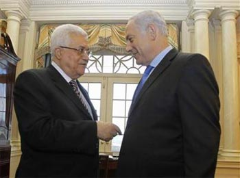 Palestinian Authority President Abbas and Israeli Prime Minister Netanyahu