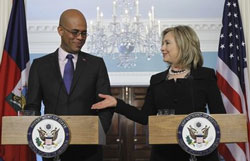 Martelly and Clinton