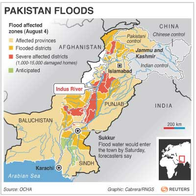 Pakistan Flood Map