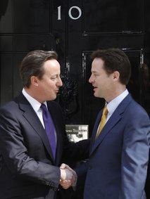 Prime Minister Cameron and Nick Clegg
