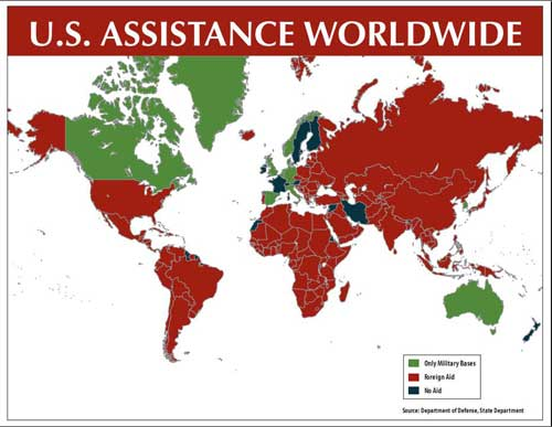 Aid Targeted For Nations That Dont Like Us - Us foreign aid map