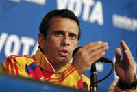 Venezuela's opposition leader and presidential candidate Henrique Capriles during a news conference in Caracas April 13, 2013.