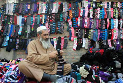 A socks shop in Lahore--the capital of the Pakistani province of Punjab. (REUTERS/Mani Rana)