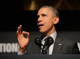 President Obama speaks at a National Action Network conference Friday, April 11, 2014, in New York. (AP Photo/The Daily News, Julia Xanthos, Pool)