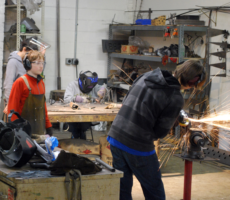 Welding hard subjects in college