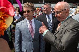 Rand Paul (left) and Rupert Murdoch at the Kentucky Derby.