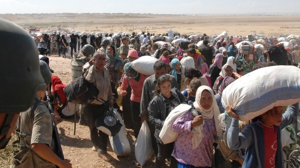 Syrian Kurds flee Islamic State