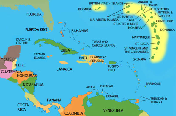 Obama Admin To Allow Thousands Of Haitians Into US Without Visas - Map of haiti and us