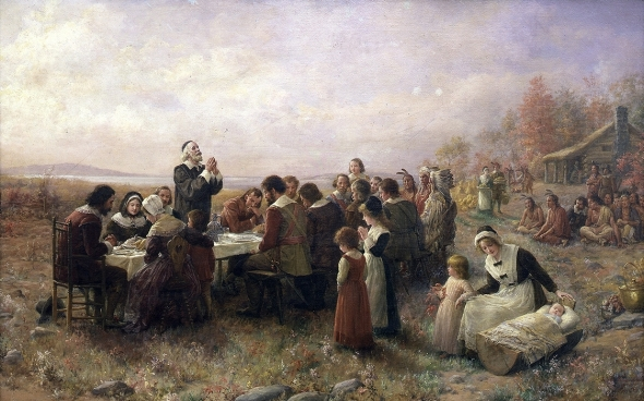 first-thanksgiving-Brownscombe