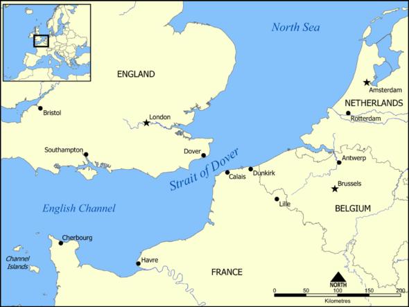 calais-dover-map
