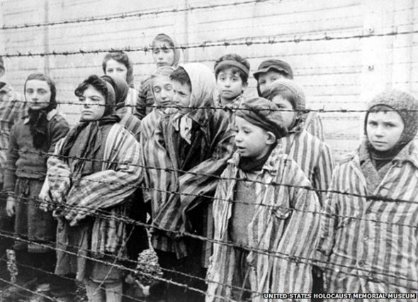 Child survivors of Auschwitz.