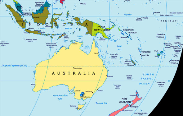 Clear Map Of Australia.News From Australia Turkey And Egypt
