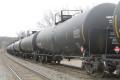A CSX train carrying light crude oil.