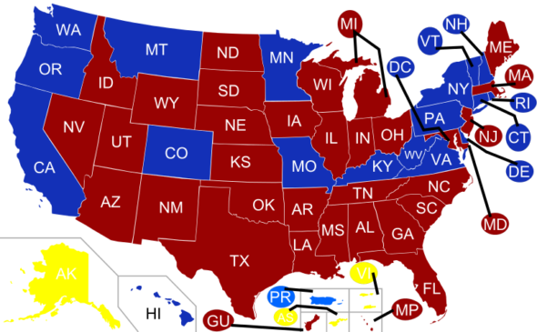 United_States_Governors_map