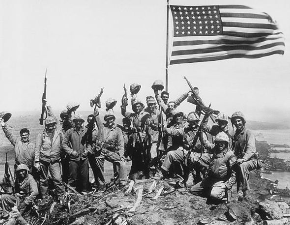 "Rosenthal did stage this ""Gung Ho"" Iwo Jima photo."