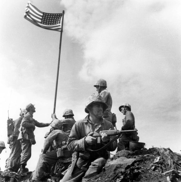 Marine Sgt. Louis Lowery's Iwo Jima photo.