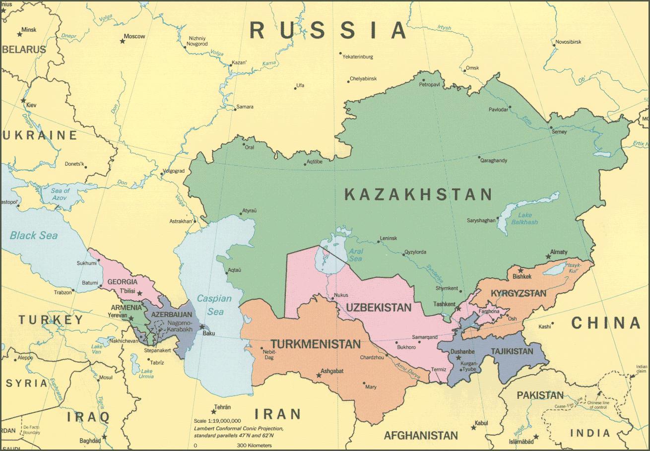 Usbekistan Kapital Karte
