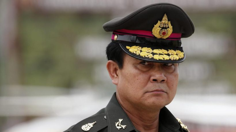 Thai Prime Minister Prayuth Chan-ocha was head of the Thai military junta that seized power in May 2014.  He was named prime minister in August, 2014 by his hand-picked National Assembly. (Photo: Rungroj Yongrit / European Pressphoto Agency)