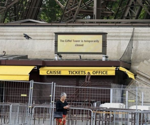 Eiffel Tower temporarily closed