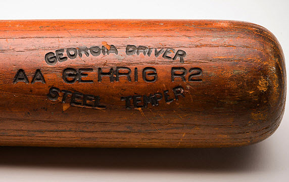 Lou Gehrig bat barrel