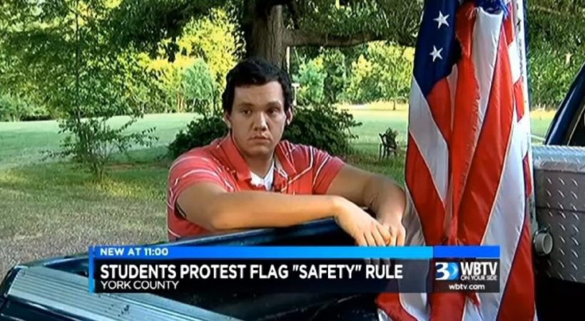 SC teen banned from flying flag on truck sparks protests, change