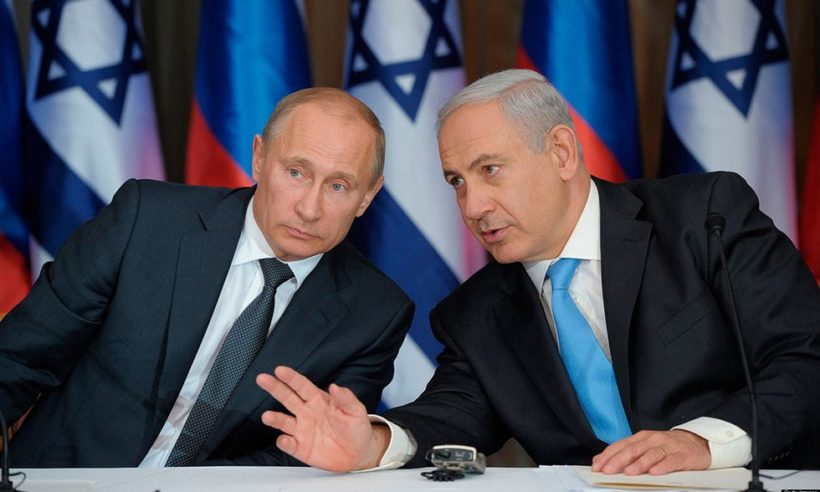 Russian President Vladimir Putin meets with Israeli Prime Minister Benjamin Netanyahu in Jerusalem on June 25, 2012.