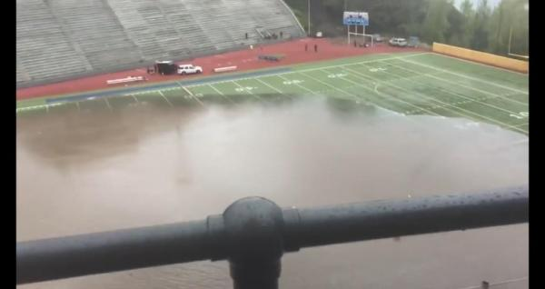 Tacoma-high-school-stadium-rapidly-floods-in-epic-rain-storm