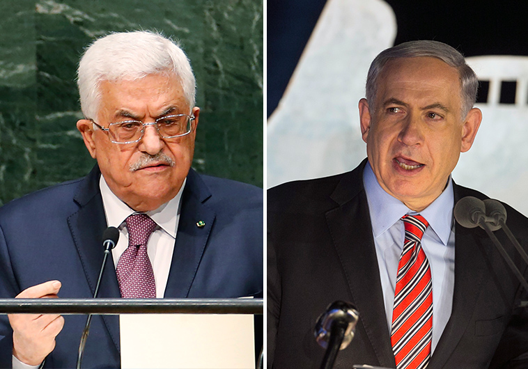 Palestinian Authority President Mahmoud Abbas (left), Israeli Prime Minister Benjamin Netanyahu (Photo Reuters)