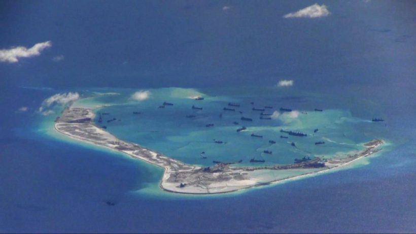 Angry China shadows U.S. warship near man-made islands