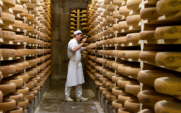 The Comte cheese cellar of Fort Saint Antoine in the Jura Mountains (Photo: Kalpana Kartik/Alamy)