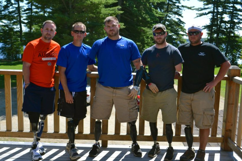 Travis and the guys from Walter Reed Army Medical Center reunite August 2014.