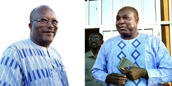 Burkina Faso - two leading candidates in the race to succeed Blaise Compaore are Roch Marc Christian Kaboré (left) and Zéphirin Diabré (right)