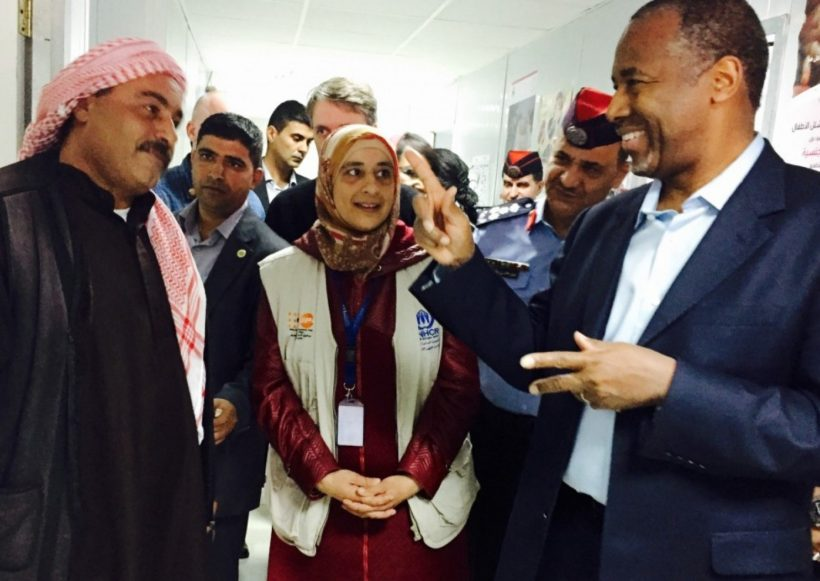 Ben Carson meets with Syrians at refugee camps in Jordan