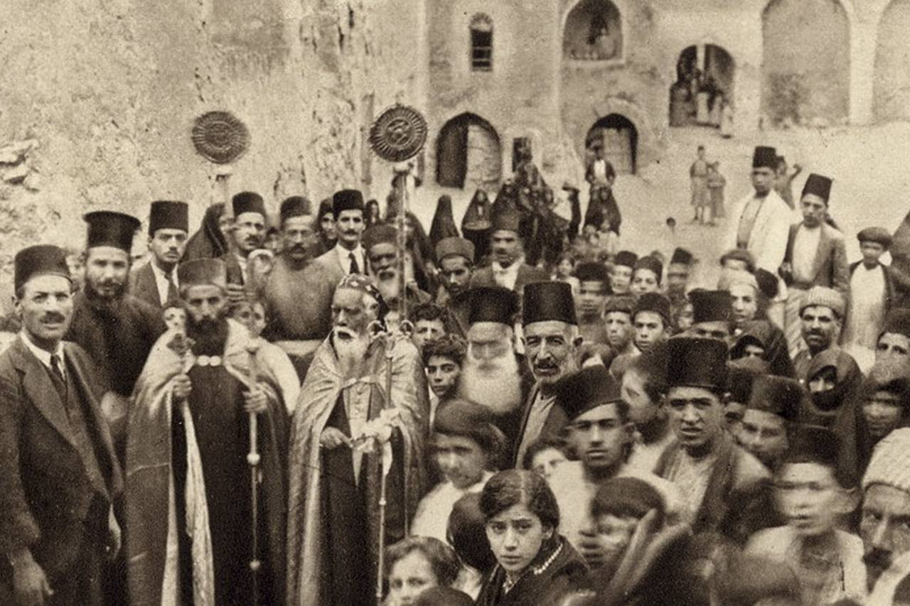 This photo taken in the 1920s shows a ceremony at the Mar Matai monastery in Mosul, Iraq, where a Christian community thrived for centuries. Photo: Associated Press