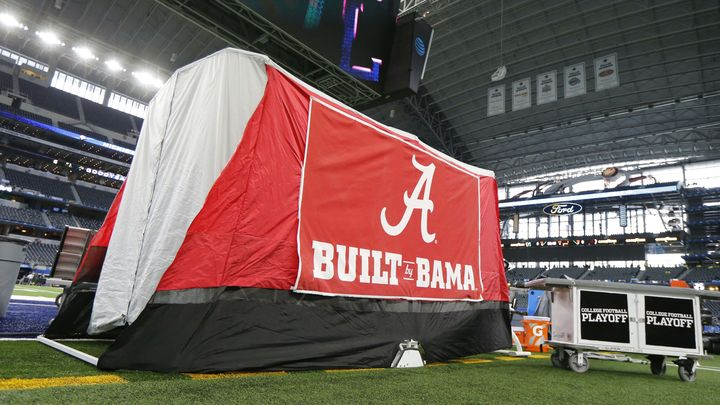 The story behind the tent on Alabama's football sideline