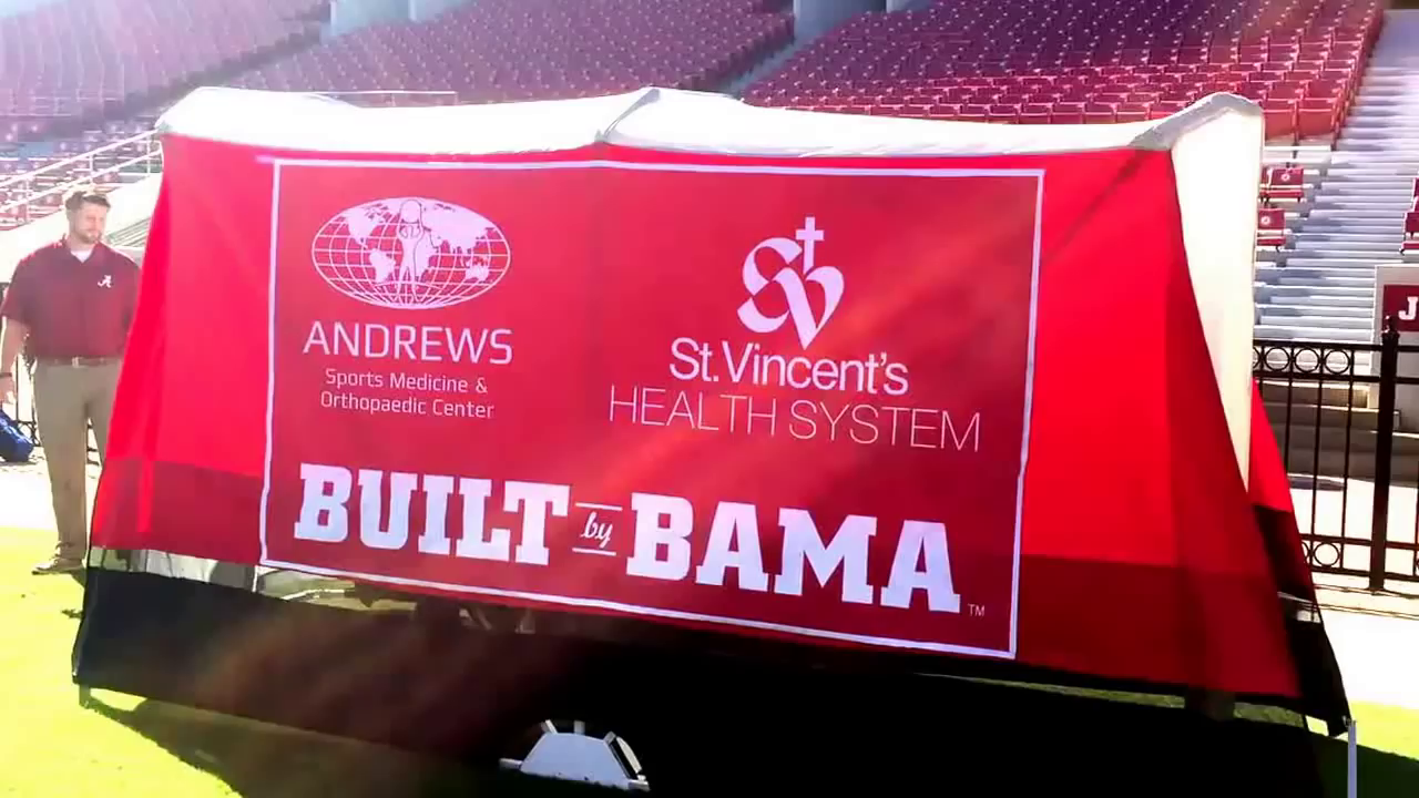 0000 & The story behind the tent on Alabamau0027s football sideline