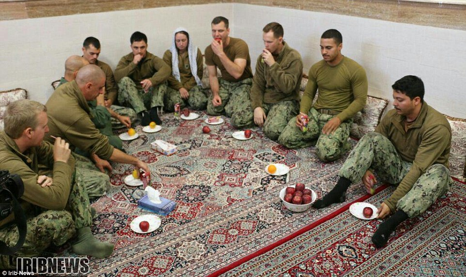Photo Iran released of US sailors.