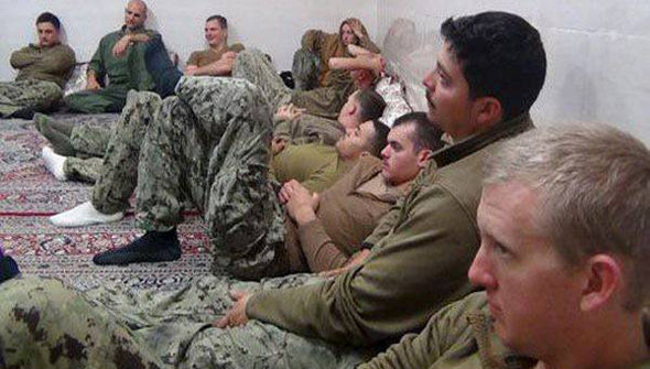 Iran released photos of the US sailors they had captured.