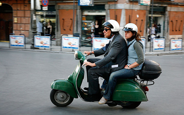 Vespas are a common mode of transport across Italy (Photo: Alamy)