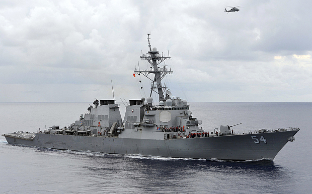 U.S. Warship Sails Near Island Claimed by China