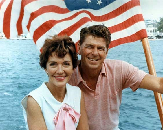The Reagans in California, 1964.