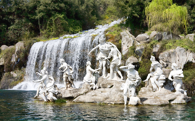 Waterfalls at Caserta Royal Palace, Italy