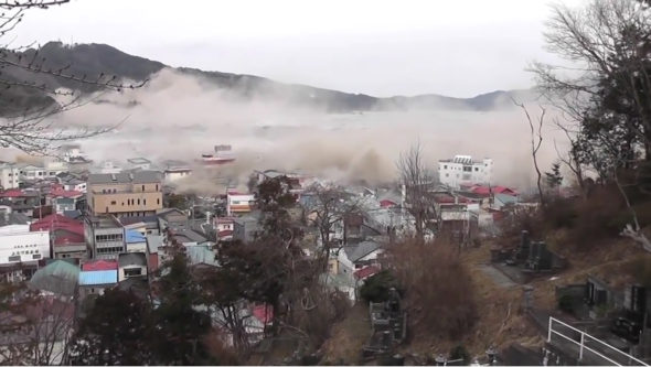 Otsuchi, Japan, as the tsunami struck.