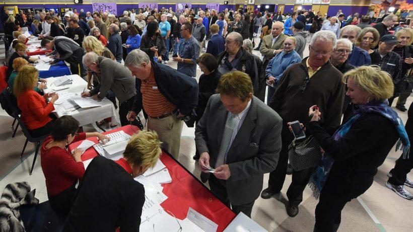 Voter turnout varies drastically between parties