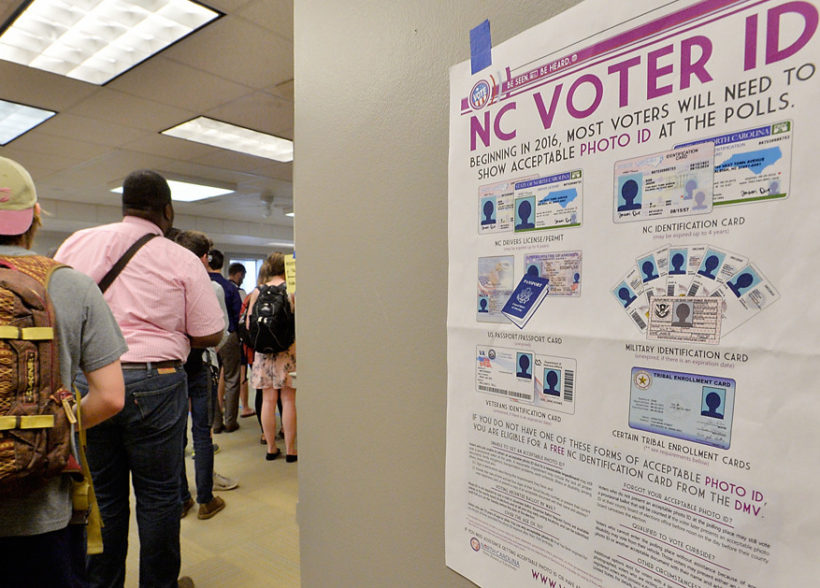 Federal judge upholds voter ID law in North Carolina