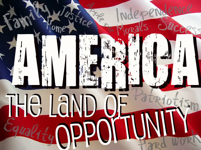 the american life and the american land of opportunities -america is a new eden, a promised land of beauty, unlimited resources and endless opportunities -the american birthright is one of ever-expanding opportunity progress is a good thing and we can expect life to keep getting better and better -the independent, self-reliant individual will triumph.