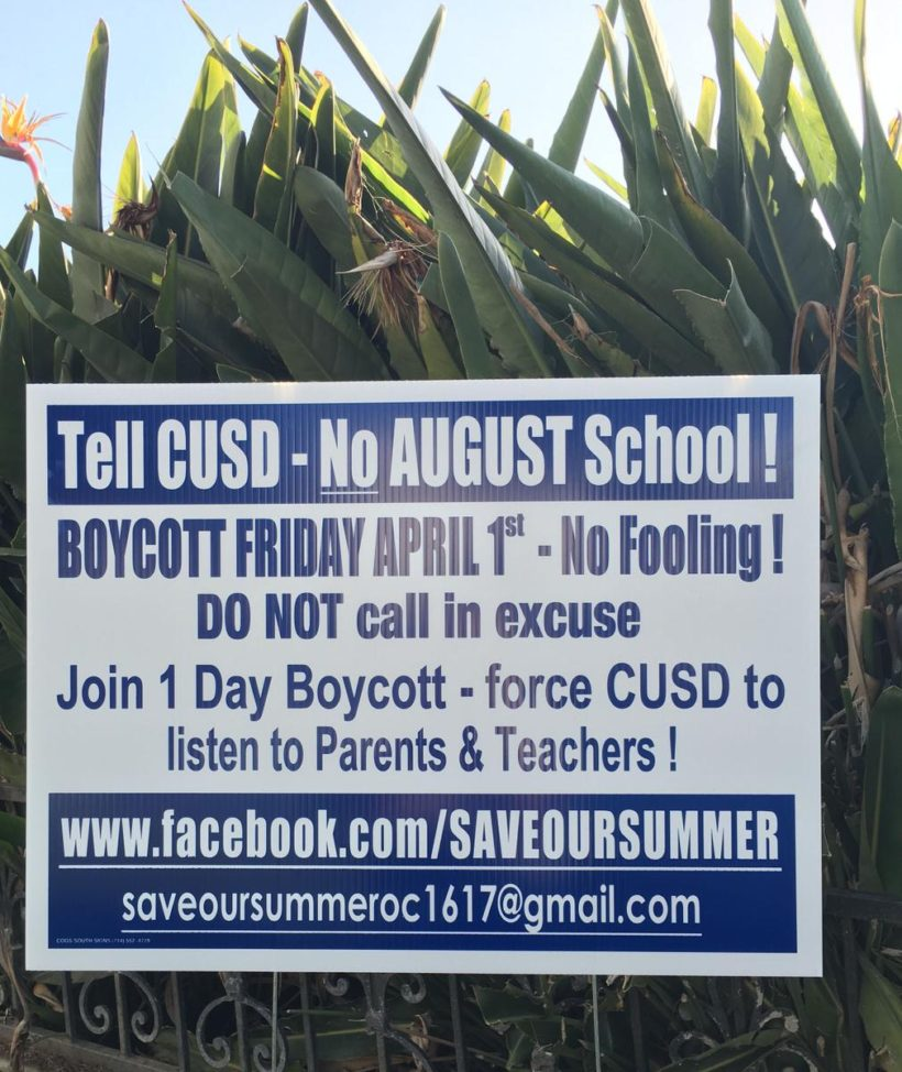 CA parents planned one-day boycott over school year start date