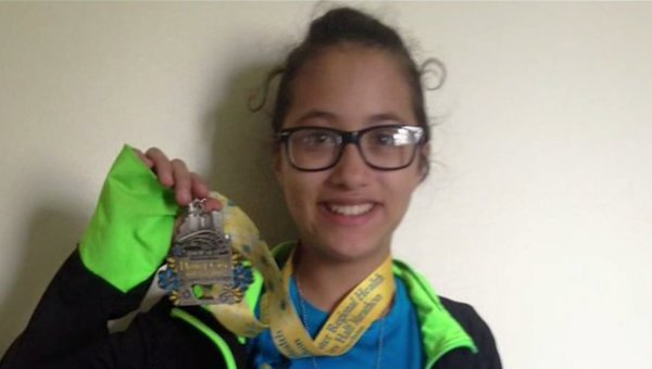 Girl accidentally runs half marathon