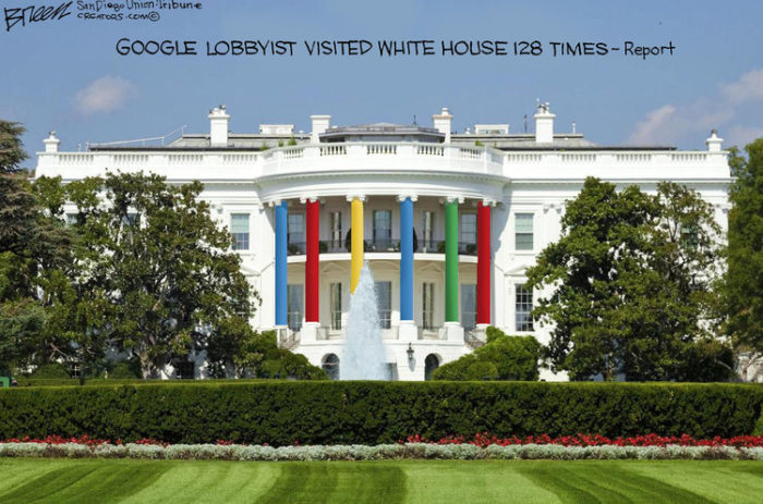 Google lobbyists' White House visits