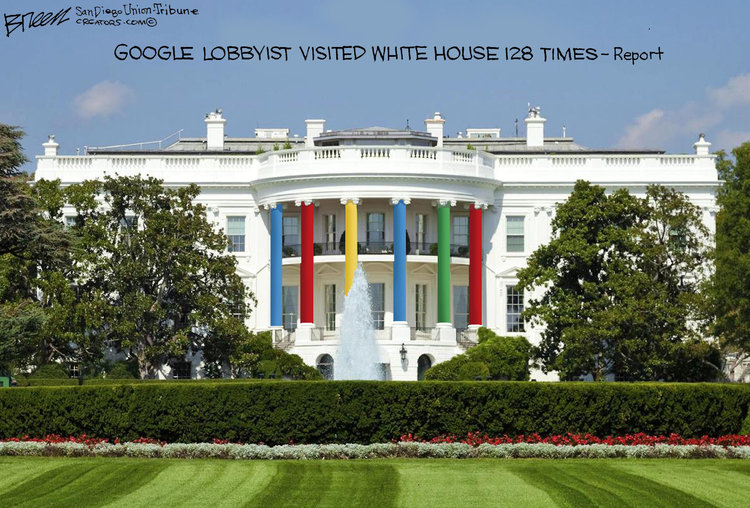 Google lobbyists' White House visits